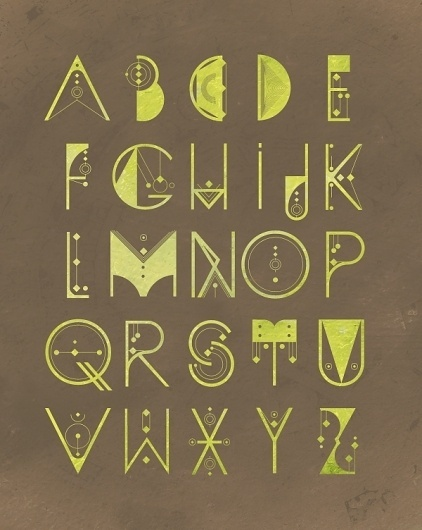 ALQUIMIA TYPE on the Behance Network #poster #typography