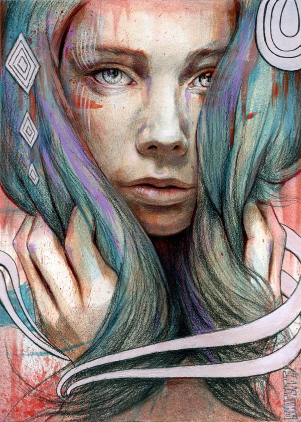 Onawa by MichaelShapcott #inspiration #portrait #painting