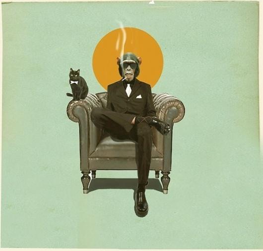 Monkey Business by Dedo | Society6 #business #monkey