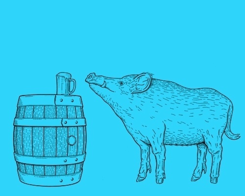 Bosworth the Boar #food #peter #illustration #and #paul