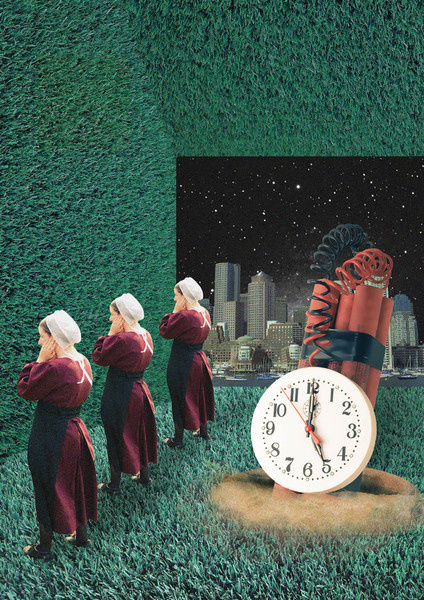 """""""You're a timebomb waiting to explode."""" #modern #surrealism #vintage #art #collage"""
