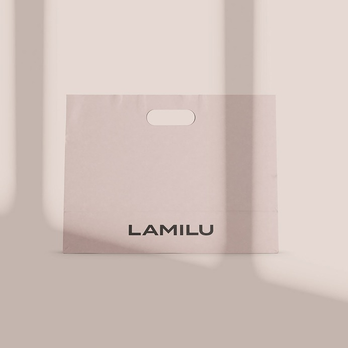 LAMILU Corporate Design - Mindsparkle Mag Anastasia Gorodova designed LAMILU Corporate Design. LAMILU is a women's clothing brand. #logo #packaging #identity #branding #design #color #photography #graphic #design #gallery #blog #project #mindsparkle #mag #beautiful #portfolio #designer