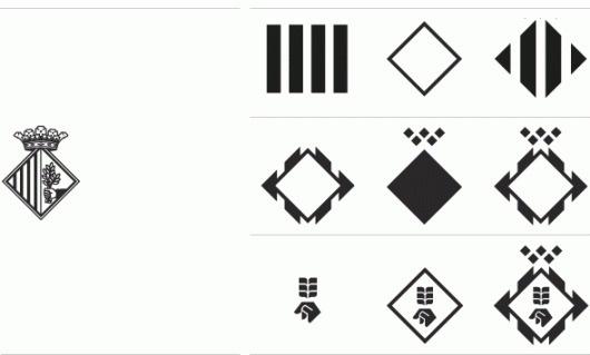 Lamosca . Aj. de Mataró #simplification #progression #branding #elements #crest