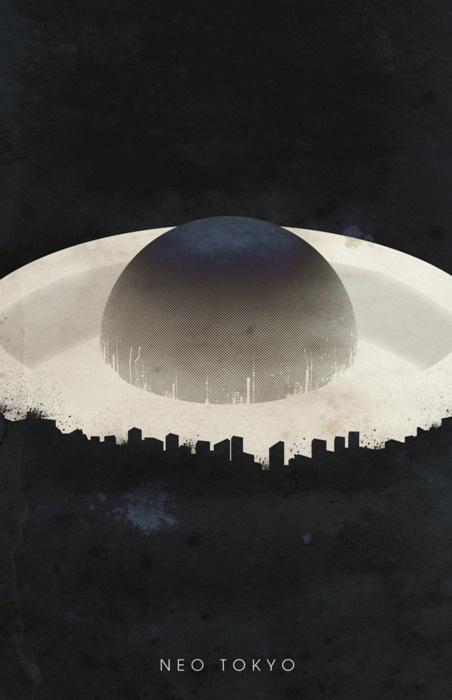 Akira - fan made poster #neo #explosion #center #akira #eye #tokyo