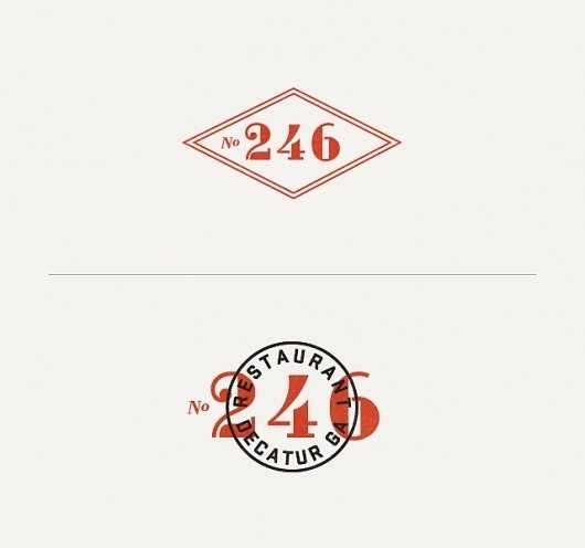 Graphic-ExchanGE - a selection of graphic projects #numbers #logo #restaurant