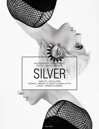 Silver | Volt Café | by Volt Magazine #beauty #white #design #graphic #volt #black #photography #art #and #fashion #layout #magazine #typography