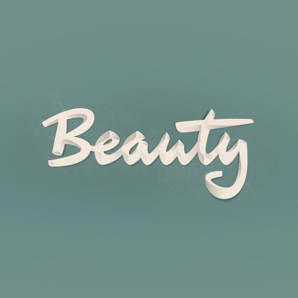 Beauty by Laszlito Kovacs #inspiration #lettering #typography