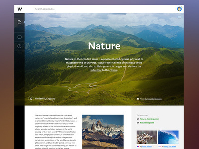 Wikipedia Redesign #website #digital #web #ui