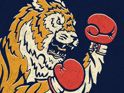 Put Yer Dukes Up #classic #orange #illustration #nature #tiger #animal