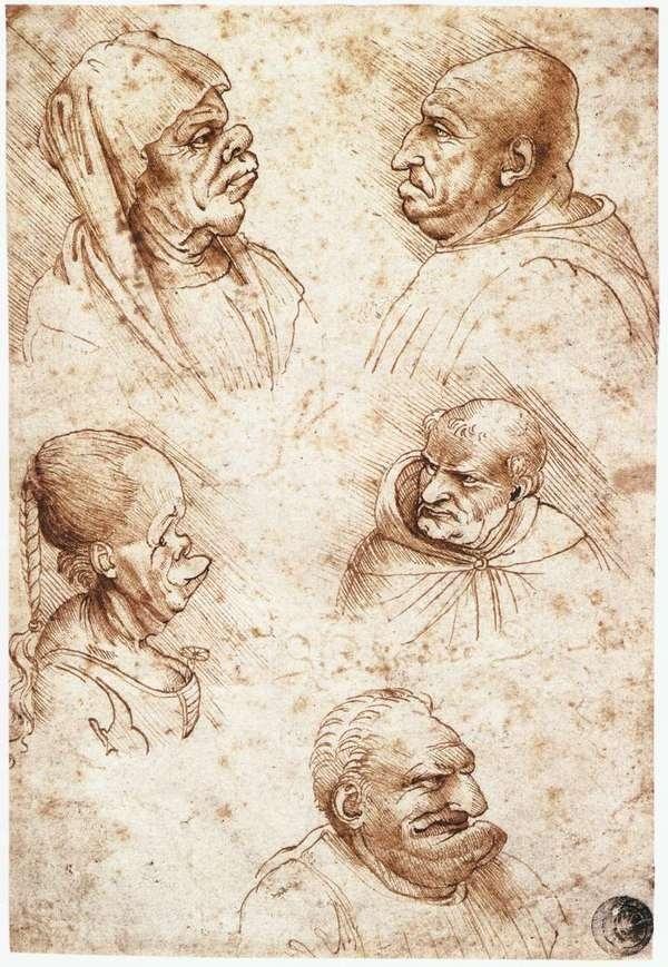 Five Caricature Heads #five #caricature #heads