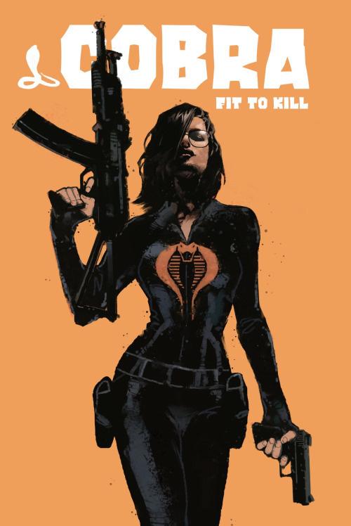 illustration girl guns