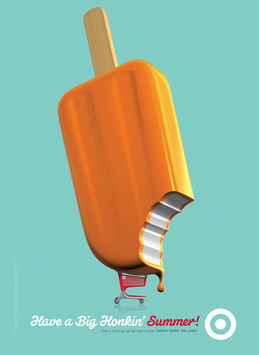 PrintSingle4 #shopping #red #cart #orange #simple #target #popsicle #poster #blue