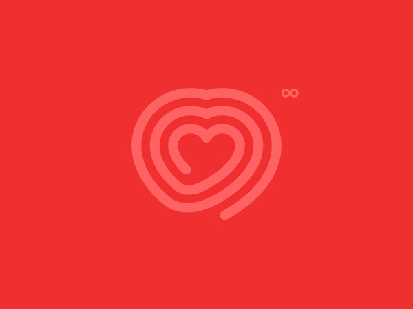 Infinite Love — Symbol #red #simple #symbol #minimal #logo #infinite #love #dimo