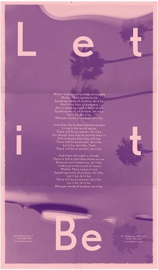 Let it be | Thinketing #let #it #be #poster