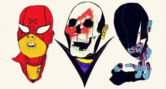 2010 : boneface #masks #illustration