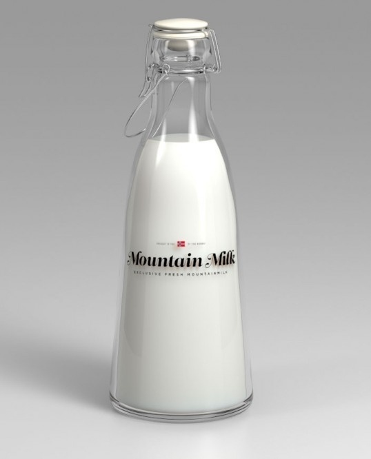 Mountain Milk | OSOMO #packaging #milk #minimalism #bottle