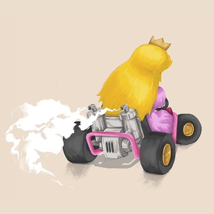 Peach - Mariokart64 #Mario #illustration #gaming #N64 #Mariokart #Retro #nintendo