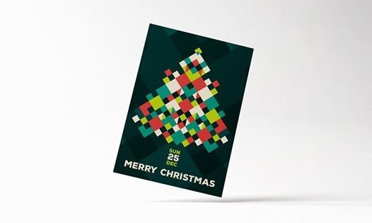 Merry Christmas Flyer #poster #flyer #card #christmas #colorful #minimal #print #inspiration #pattern