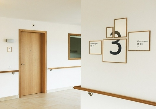 Retirement Facility Hottingen - Signage on the Behance Network #signage
