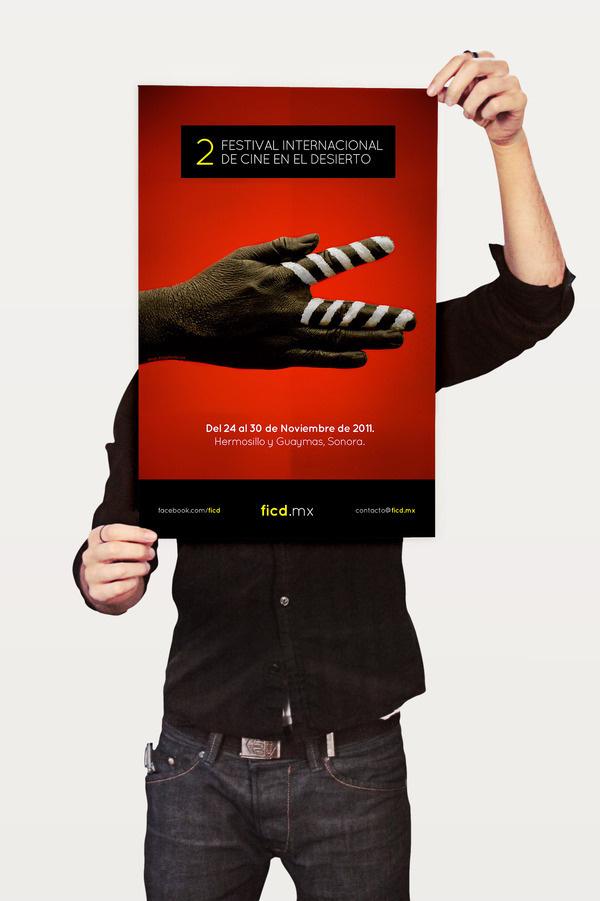 2FICD - Festival Internacional de Cine en el Desierto #logotype #branding #design #minimalism #simple #identity #logo #typography