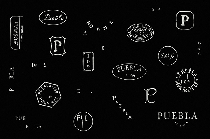Logos hand drawn by Savvy for art, design and gastronomy experience Puebla 109 #logo