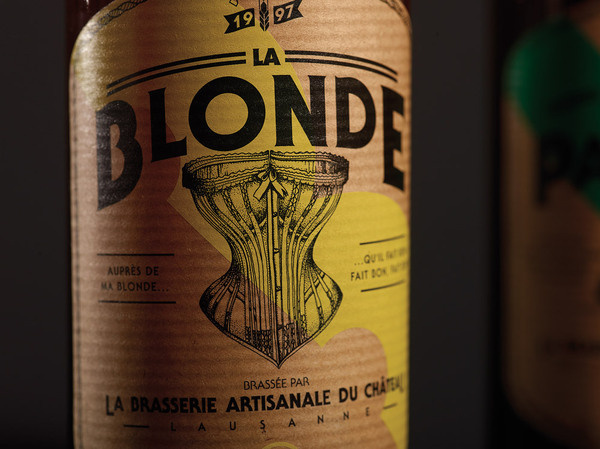 lovely package la brasserie du chateau 3 #design #graphic #package #bottle