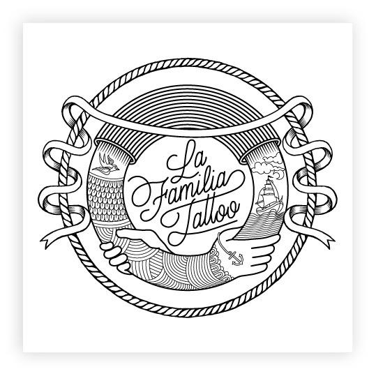 LA FAMILIA TATTOO LOGO Joan Tarrago #tattoo
