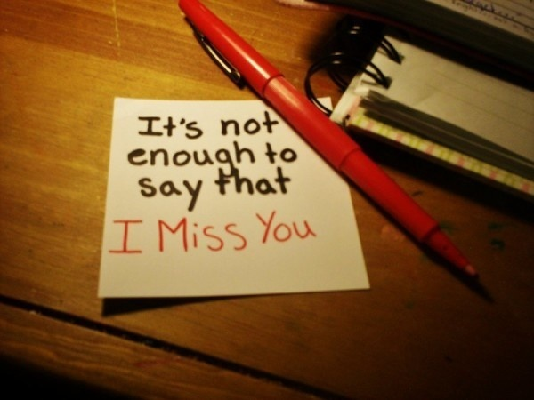 Miss you - it is not enough #you #quote #written #hand #miss