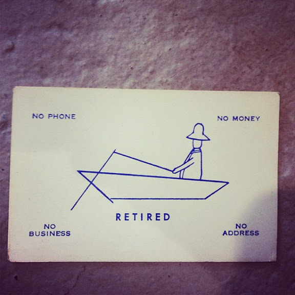 Retired #card #business #retired