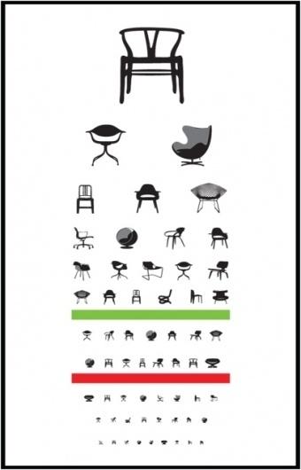 eye exam | Blue Art Studio #creative #chairs #design #iconic #poster