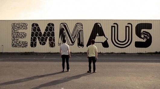 Painting for Emmaus | Fubiz™ #graffiti #outside #typography