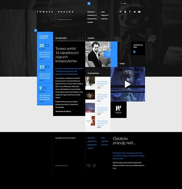 Tomasz Opalka Website Concept on Behance #music #digital #design #web