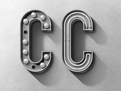 Dribbble - Vintage C by Matthew Daniels #typography