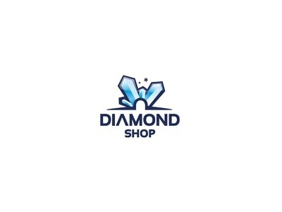 Dribbble - Diamond Shop by Andrius #logo #diamond #shop #branding