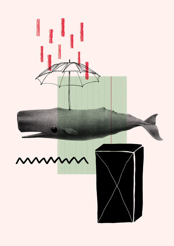 whale #whale #fischer #wal #illustration #maria #collage