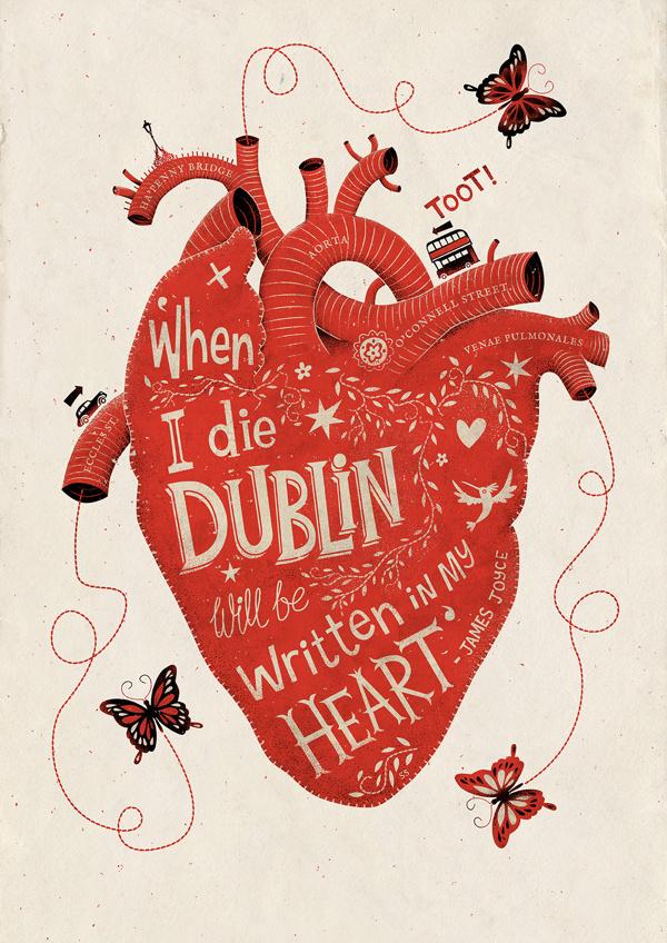 When I Die... on Behance #heart #silkscreen #print #illustration #poster