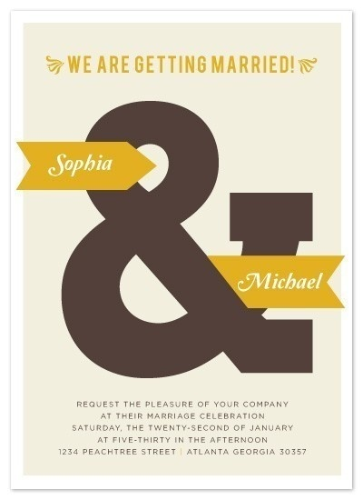 Simple #announcement #wedding #typography