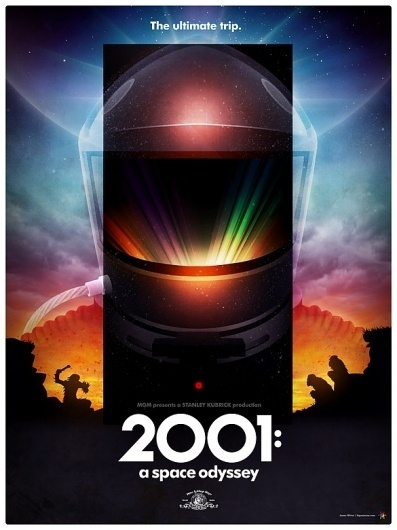 2001: A Space Odyssey poster - Signalnoise.com #apes #kubrick #hal #monolith #signalnoise #space #2001