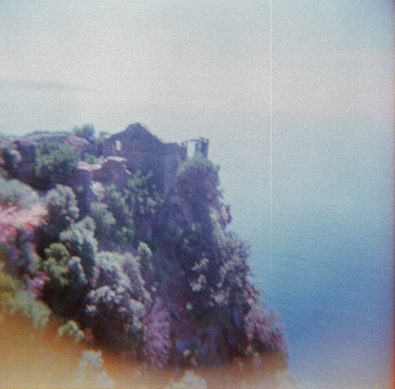 Silence © Adele Jancovici 2015 Color print on paper #photography #color #landscape #sea #ruin #corsica #house #memory #blue #pink #white #n