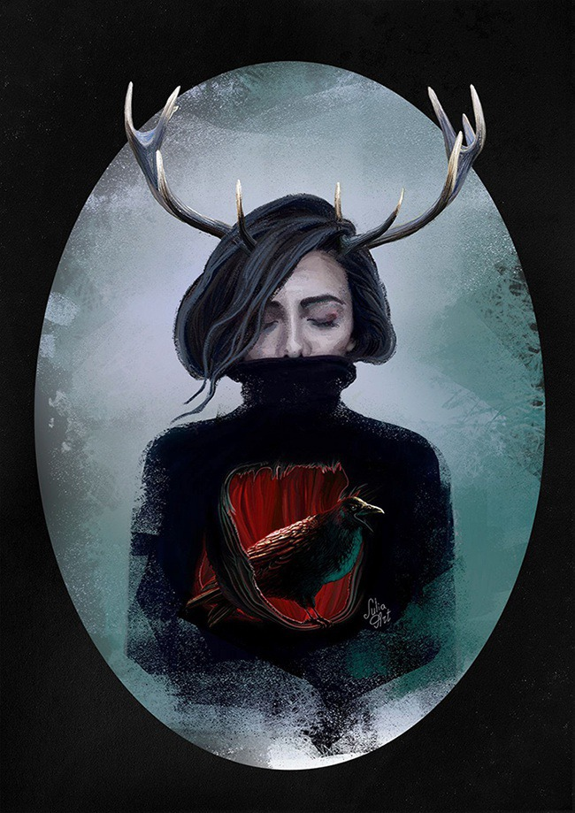 Cover artwork for a music album by Julia Art