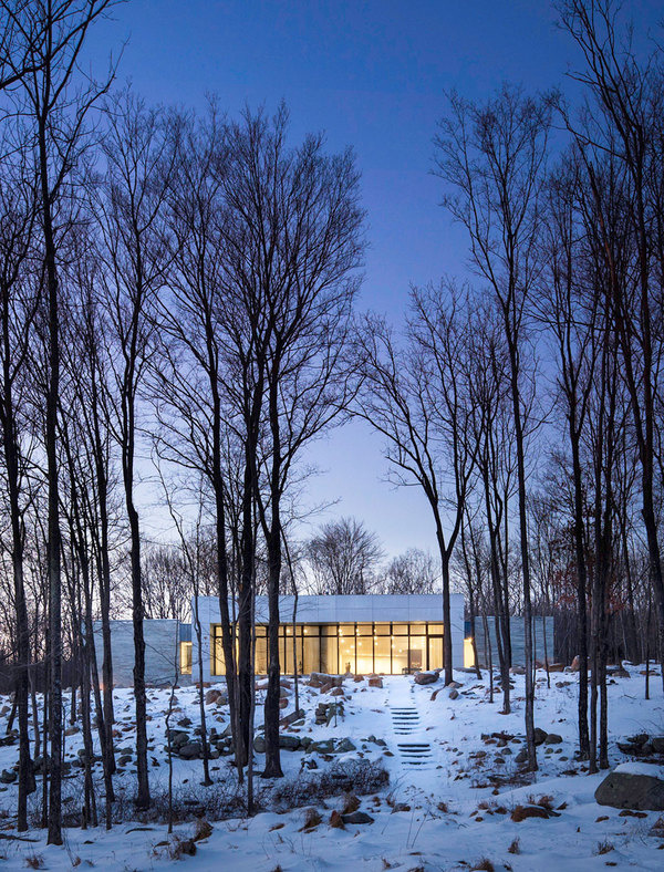 Artful House Envisioned as a Personal Refuge in the Woods #architecture