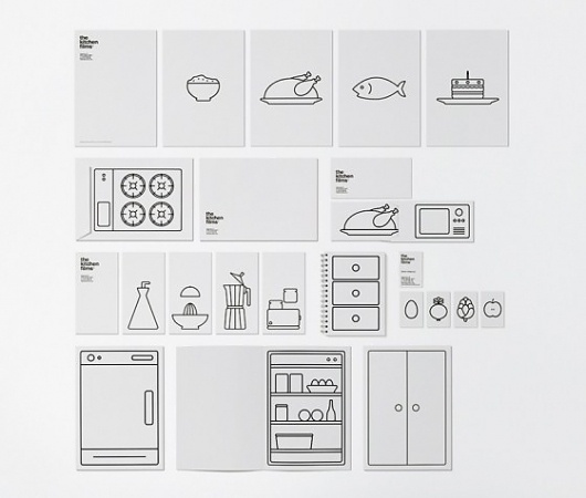 Jared Erickson | Because I Can #line #white #branding #infographic #black #food #kitchen #identity