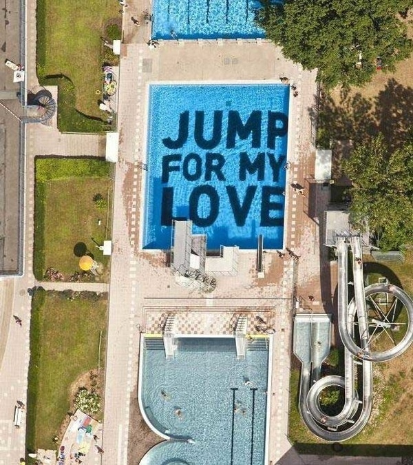 """CJWHO ™ (Fresh """"Jump for My Love"""" Project in Wiesbaden by...) #wiesbaden #design #photography #architecture #art #typography"""