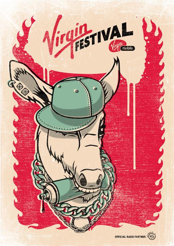 Virgin Festival on Behance #festival #print #screen #poster #virgin