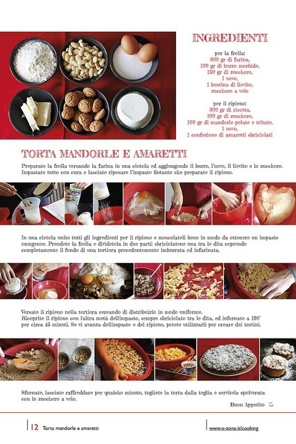 12 | Torta mandorle e amaretti by no zone, via Flickr #cooking #2013 #calendar #design #food #illustration #photography #calendars