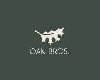 Oak Bros. by LumaVine #logo #branding