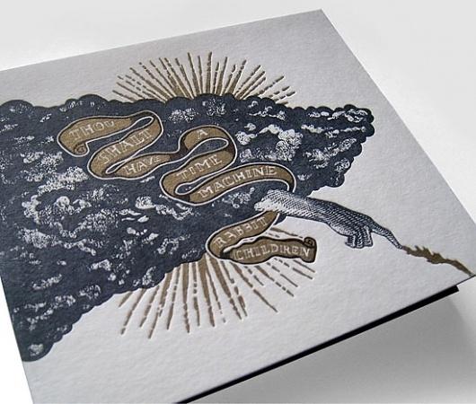 Brian Danaher ::: Design / Rabbit Children CD Package #music #packagaing #letterpress #cd