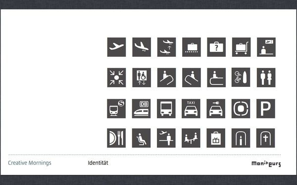 Identity And Function #pictogram #icon #wayfinding #symbol #airport