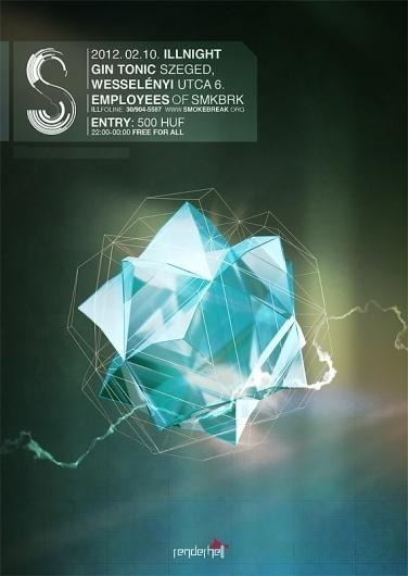 SMKBRK ILLNIGHT – SMOKE|BREAK #2012 #smkbrk #poster #music #illnight