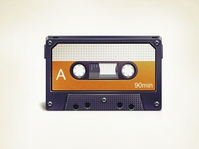 Dribbble - Cassette Tape by Vlademareous #music #audio #cassette